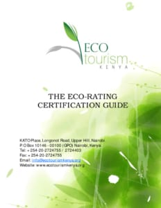 thumbnail of The Eco-Rating Certification Guide 2013